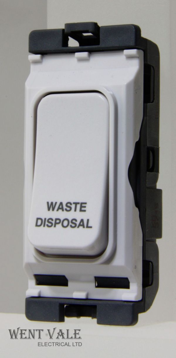 Hager Sollysta Grid  WMGSDP2/WD - 20a D/Pole Grid Switch Printed Waste Disposal.